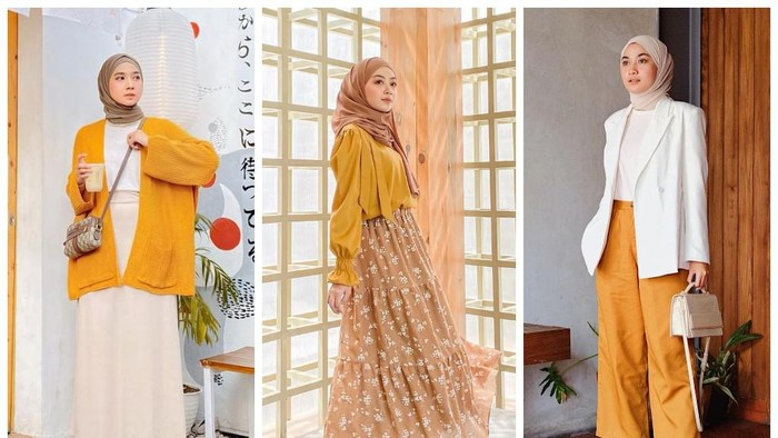 7 Inspirasi Gaya Hijabers dengan Outfit Warna Kuning, Anti Norak Club!