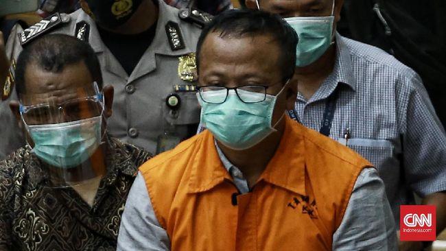 Edhy Prabowo meminta maaf kepada orang tuanya, Presiden Jokowi, Prabowo Subianto, dan masyarakat atas kasus suap yang menjerat dirinya.