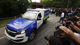 Rumah duka mendiang Diego Maradona di Buenos Aires, Rabu (25/11), didatangi puluhan penggemar dan puluhan jurnalis.