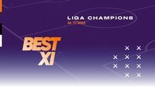 INFOGRAFIS: Best 11 Liga Champions, Duet Fernandes-Hazard