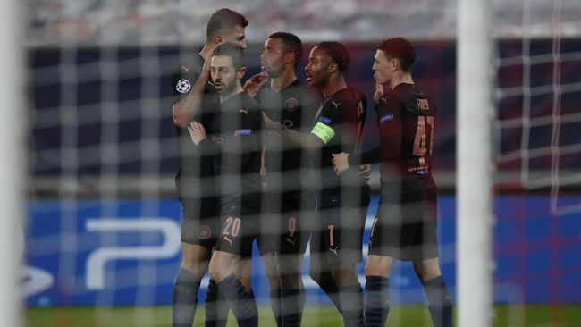 Manchester City lolos ke babak 16 besar Liga Champions usai mengalahkan Olympiakos 1-0 pada laga keempat Grup C di Stadion Karaiskaki.