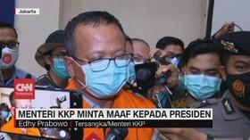 VIDEO: Resmi Pakai Rompi Oranye, Edhy Prabowo Minta Maaf