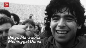 VIDEO: Legenda Sepak Bola Maradona Tutup Usia