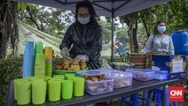 FOTO: Nasi Kuning Pandemi Rp3.000 di Jakarta