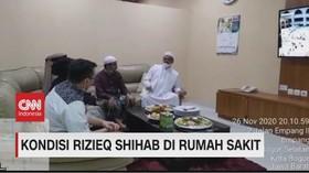 VIDEO: Dijenguk, Begini Kondisi Rizieq Shihab di Rumah Sakit