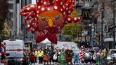 Kota New York tetap menggelar parade Thanksgiving di masa pandemi Covid-19, Kamis (26/7), namun tak seramai tahun-tahun sebelumnya.