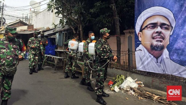 TNI Bakal Datangi Warga Petamburan Penolak Tes Covid