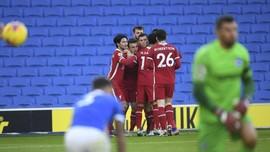 Hasil Liga Inggris: Liverpool Gagal Menang Lawan Brighton