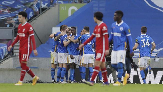 Liverpool gagal menang dan harus puas bermain imbang 1-1 melawan Brighton pada lanjutan Liga Inggris di Stadion Amex, Sabtu (28/11).