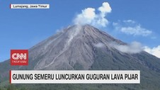 VIDEO: Gunung Semeru Luncurkan Guguran Lava Pijar