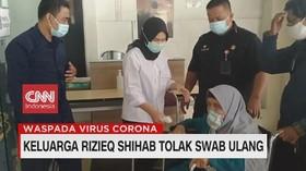 VIDEO: Keluarga Rizieq Shihab Tolak Swab Ulang