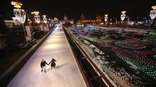 FOTO: Melongok Gelanggang Ski Es Terbesar di Rusia