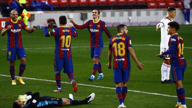 Barcelona menjamu Real Sociedad di Camp Nou, Kamis (17/12) dini hari WIB. Duel ini bisa jadi penentuan langkah Blaugrana musim ini.