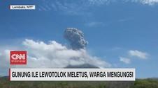 VIDEO: Gunung Ile Lewotolok Meletus, Warga Mengungsi