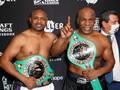 FOTO: Tarung Sengit Dua Mantan Juara Tyson vs Jones