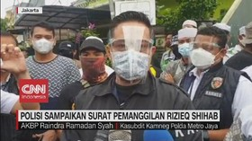VIDEO: Polisi Sampaikan Surat Pemanggilan Rizieq Shihab