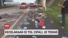 VIDEO: Kecelakaan di Tol Cipali, 10 Tewas