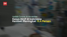 VIDEO: Pasien Positif Covid-19 Jadi 538.883 Per 30 November
