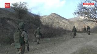 VIDEO: Tentara Rusia Jaga Wilayah Sengketa Armenia-Azerbaijan