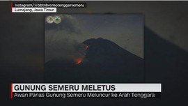 VIDEO: Semeru Meletus, Sejumlah Desa Diguyur Abu Vulkanis