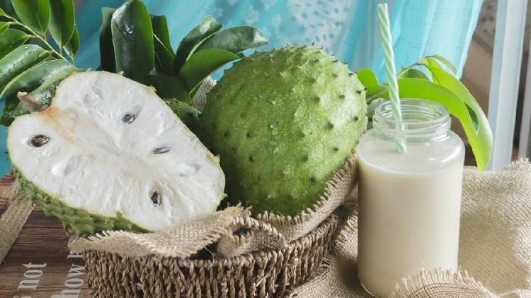 Annona muricata, guanábana3 entre otros muchos nombres, es un árbol de la familia Annonaceae, cultivado en muchos países tropicales por sus frutos comestibles.   La guánabana es un fruto