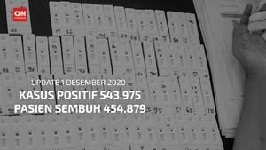 VIDEO: 1 Desember, Kasus Positif Covid-19 Tembus 543 Ribu