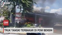 VIDEO: Truk Tangki Terbakar di Pom Bensin