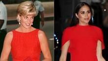 Di Balik Busana Penuh Pesan Meghan Markle dan Putri Diana