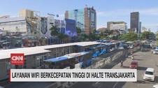 VIDEO: Layanan Wifi Berkecepatan Tinggi di Halte TransJakarta