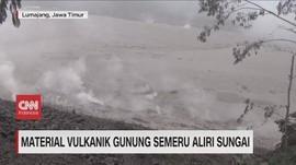 VIDEO: Material Vulkanik Gunung Semeru Aliri Sungai