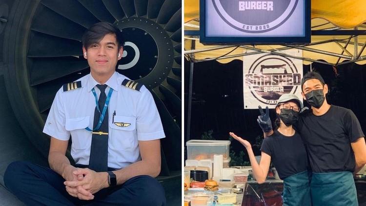 Pilot banting setir jadi penjual burger