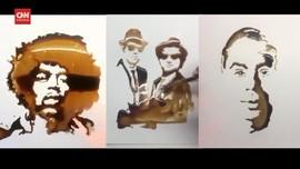 VIDEO: Lukisan Cairan Kopi Instan