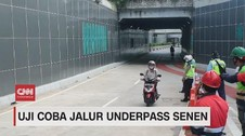 VIDEO: Uji Coba Jalur Underpass Senen
