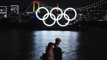 FOTO: Cincin Olimpiade Kembali ke Teluk Tokyo