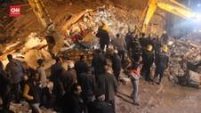VIDEO: Apartemen Di Turki Ambruk, 6 Tewas
