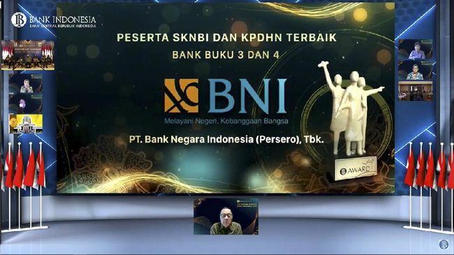 Penghargaan ini diberikan sebagai bentuk apresiasi dan sekaligus pengakuan BI kepada Bank BNI yang telah mendukung pelaksanaan tugas-tugas bank sentral.
