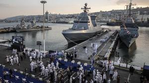 FOTO: Israel Datangkan Saar 6, Kapal Perang Tercanggih