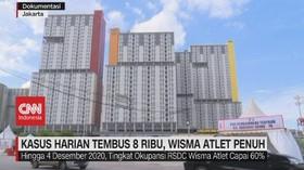 VIDEO: Kasus Harian Tembus 8 Ribu, Wisma Atlet Penuh
