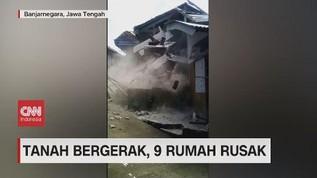 VIDEO: Tanah Bergerak di Banjarnegara, 9 Rumah Rusak