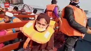 VIDEO: Muslim Rohingya Pasrah Dipindahkan ke Pulau Kecil