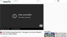 Akun dan Video Front TV Milik FPI Hilang dari YouTube