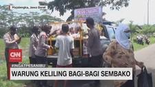 VIDEO: Polisi Dirikan Warung Keliling Bagi-bagi Sembako
