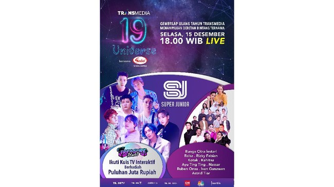 Super Junior Ramaikan Ultah Trans TV 15 Desember
