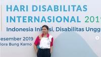 <p>Tak banyak yang tahu, Grace ternyata aktif di berbagai kegiatan sosial. Pada Desember 2019, ia membuka pameran dalam rangka peringatan Hari Disabilitas Internasional di Gelora Bung Karno, Senayan, Jakarta. (Foto: Instagram @gracebatubaraoffc)</p>