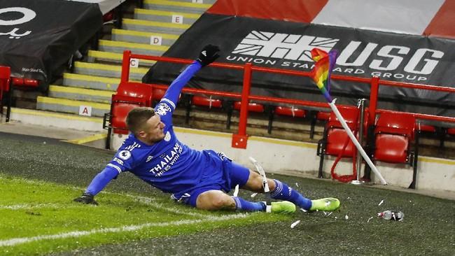 Leicester vs Arsenal: Rodgers Percaya Vardy Meski Kering Gol