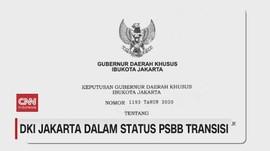VIDEO: DKI Jakarta Dalam Status PSBB Transisi