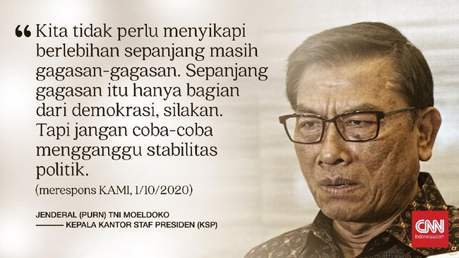 Koalisi Aksi Menyelamatkan Indonesia (KAMI) dideklarasikan di Taman Proklamasi pada 18 Agustus 2020 lalu jadi oposisi pemerintah di luar parlemen.