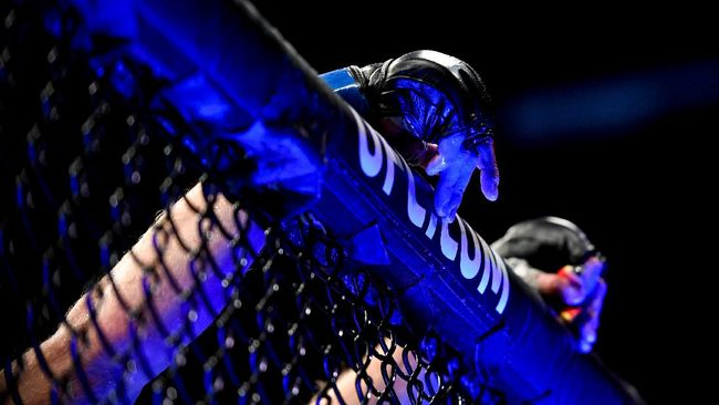 Debut Michael Chandler di UFC berakhir dengan menang TKO atas Dan Hooker ronde pertama UFC 257.