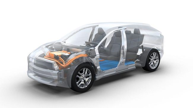 Toyota menunjukkan SUV lima penumpang berukuran sedang yang bakal menjadi mobil listrik terbaru.