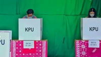 <p>Diketahui, Gibran Rakabuming dan Selvi Ananda menggunakan hak pilihnya di TPS Manahan, Solo. (Foto: Instagram @oragibranora)</p>